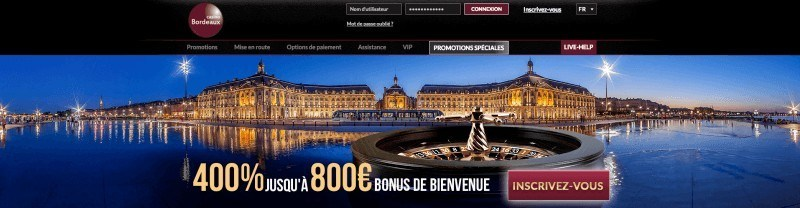 casino bordeaux bonus